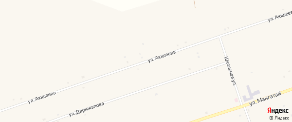 Улица Аюшеева на карте улуса Загустай с номерами домов
