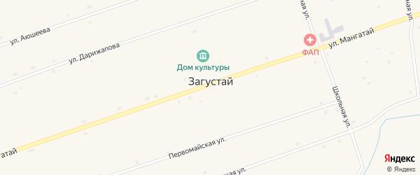 Речная улица на карте улуса Загустай с номерами домов