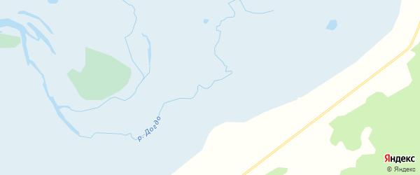 Карта заимки Догдо в Бурятии с улицами и номерами домов