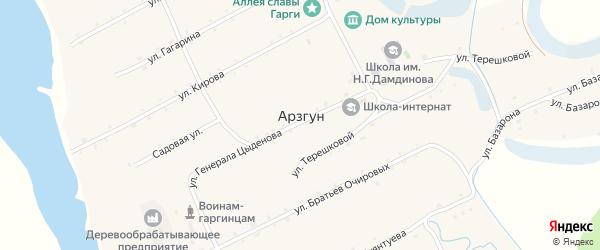 Комсомольская улица на карте улуса Арзгун с номерами домов