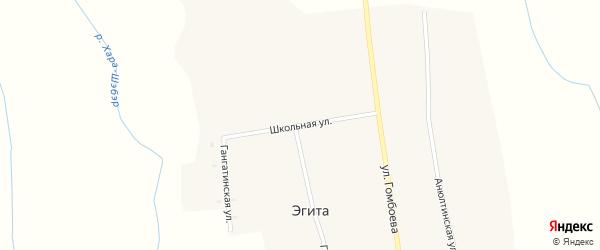 Школьная улица на карте села Эгита с номерами домов
