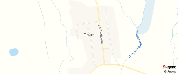 Местность Мужыхын Хорой 3 на карте села Эгита с номерами домов