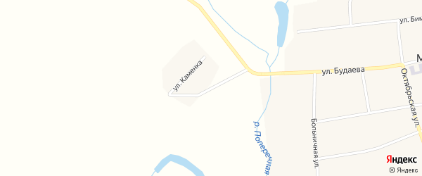 Улица Каменка на карте села Можайка с номерами домов