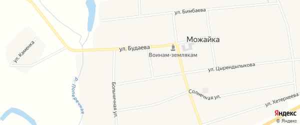 Школьный переулок на карте села Можайка с номерами домов