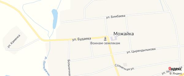 Улица Будаева на карте села Можайка с номерами домов