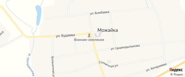 Октябрьская улица на карте села Можайка с номерами домов