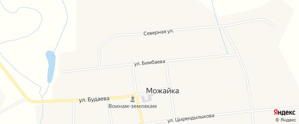 Улица Бимбаева на карте села Можайка с номерами домов