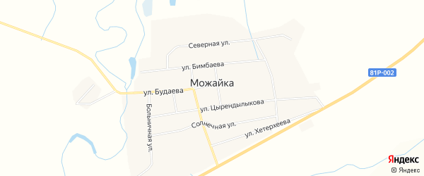 Карта села Можайка в Бурятии с улицами и номерами домов
