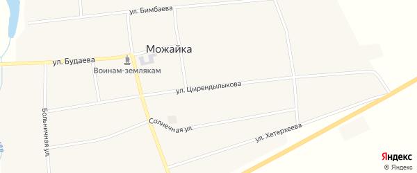Улица Цырендылыкова на карте села Можайка с номерами домов