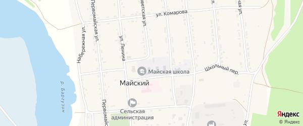 Производственная улица на карте Майского поселка с номерами домов