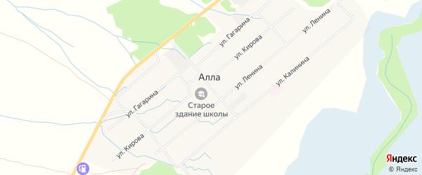 Местность Аян-1 заимка на карте улуса Алла с номерами домов