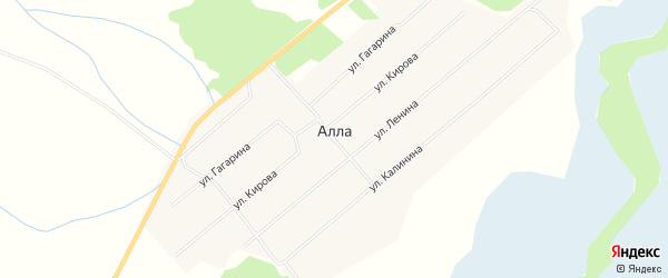 Карта улуса Алла в Бурятии с улицами и номерами домов