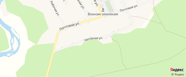Почтовая улица на карте поселка Хуртэй с номерами домов