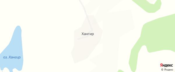 Карта улуса Хангир в Бурятии с улицами и номерами домов