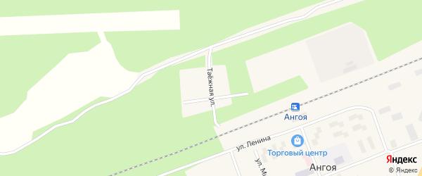 Таежная улица на карте поселка Ангои с номерами домов