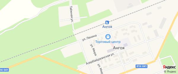 Улица Ленина на карте поселка Ангои с номерами домов