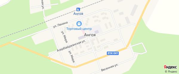 Улица Н.Нариманова на карте поселка Ангои с номерами домов