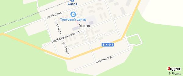 Сосновая улица на карте поселка Ангои с номерами домов