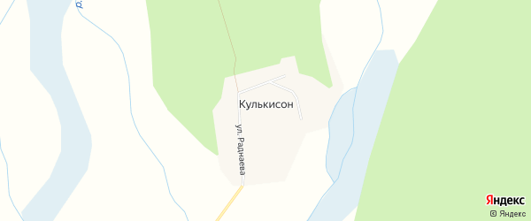 Карта улуса Кулькисон в Бурятии с улицами и номерами домов