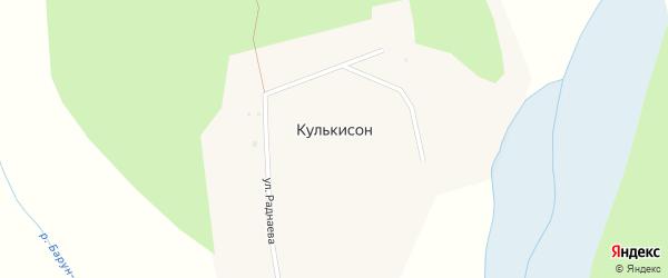 Улица Раднаева на карте улуса Кулькисон с номерами домов