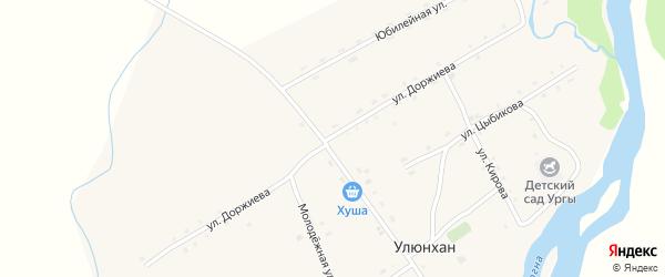 Улица Доржиева на карте улуса Улюнхан с номерами домов