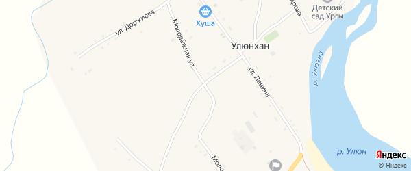 Молодежная улица на карте улуса Улюнхан с номерами домов