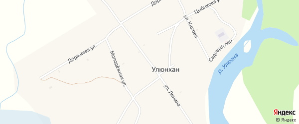 Улица Ленина на карте улуса Улюнхан с номерами домов
