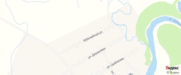 Юбилейная улица на карте улуса Улюнхан с номерами домов