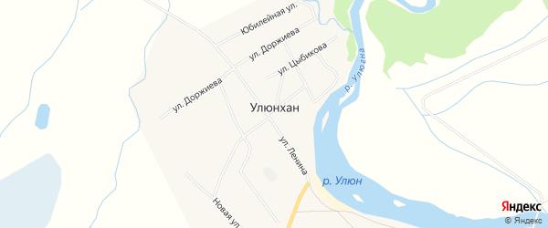 Местность Ямагана заимка на карте улуса Улюнхан с номерами домов