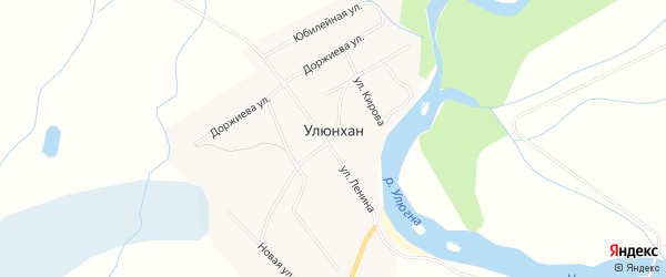 Местность Шогой заимка на карте улуса Улюнхан с номерами домов