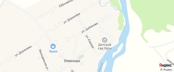 Улица Кирова на карте улуса Улюнхан с номерами домов