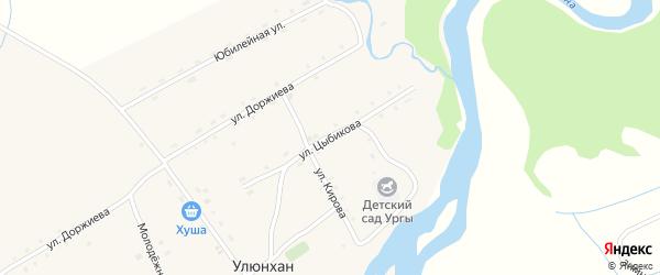 Улица Цыбикова на карте улуса Улюнхан с номерами домов