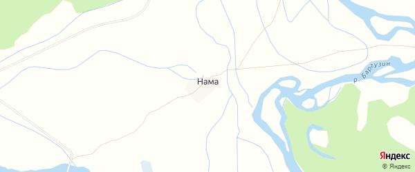 Карта улуса Нама в Бурятии с улицами и номерами домов