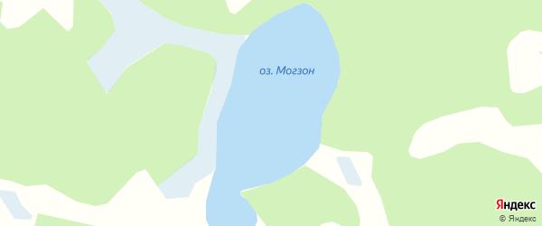 Карта заимки Гурта Могзона в Бурятии с улицами и номерами домов