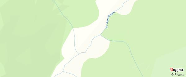 Карта заимки Аматхана в Бурятии с улицами и номерами домов