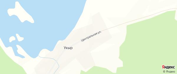 Карта села Укыра в Бурятии с улицами и номерами домов