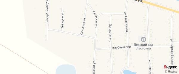 Сельская улица на карте Сосново-озерского села с номерами домов