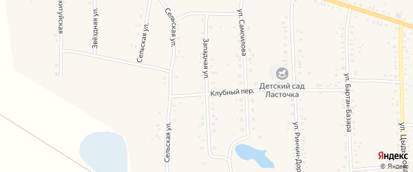 Западная улица на карте Сосново-озерского села с номерами домов