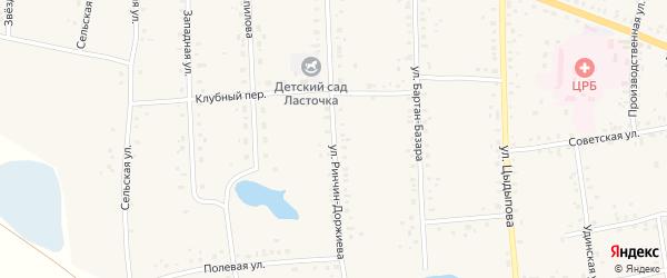 Улица Ринчин Доржиева на карте Сосново-озерского села с номерами домов
