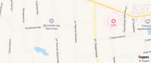 Переулок Бартан-Базара на карте Сосново-озерского села с номерами домов