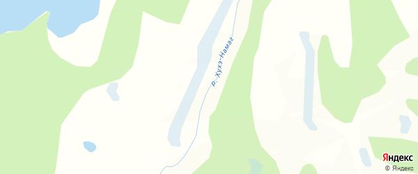Карта заимки Гурт Хухэ Нуур в Бурятии с улицами и номерами домов