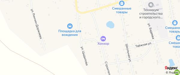 Переулок Цыдыпова на карте Сосново-озерского села с номерами домов