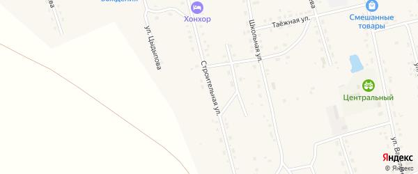 Строительная улица на карте Сосново-озерского села с номерами домов