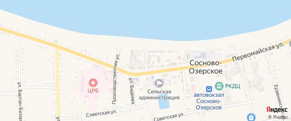 Набережный переулок на карте Сосново-озерского села с номерами домов