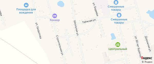 Школьная улица на карте Сосново-озерского села с номерами домов