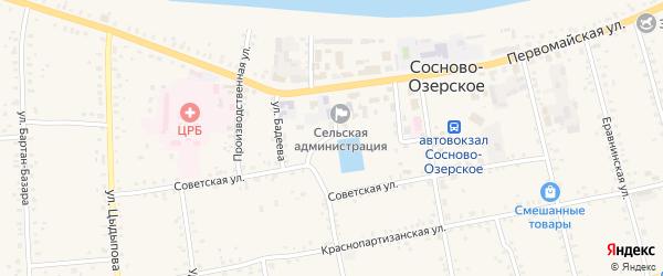 2-й переулок на карте Сосново-озерского села с номерами домов