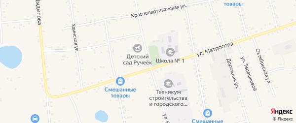 Улица Бадеева на карте Сосново-озерского села с номерами домов