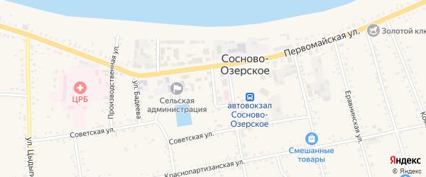 1-й переулок на карте Сосново-озерского села с номерами домов