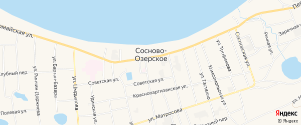 Местность Урочище Хорта1 на карте Сосново-озерского села с номерами домов