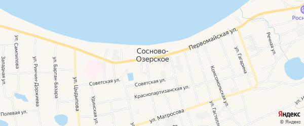 Местность Урочище Средняя Иринга на карте Сосново-озерского села с номерами домов